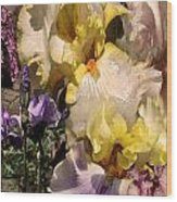 An Iris Surprise Right Wood Print