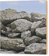 Stone Walls Wood Print