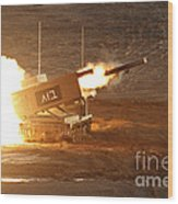 An Israel Defense Force Artillery Core Wood Print