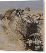 An Israel Defense Force Caterpillar D-9 Wood Print