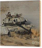 An Israel Defense Force Magach 7 Main Wood Print