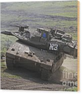 An Israel Defense Force Merkava Mark Iv Wood Print