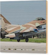 An Israeli Air Force F-16c Wood Print