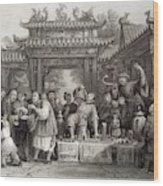 An Itinerant Chinese Doctor At Wood Print