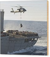 An Mh-60s Sea Hawk Helicopter Carries Wood Print