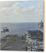 An Mh-60s Sea Hawk Takes Wood Print
