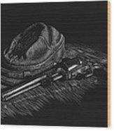 An Officer's Colt Wood Print