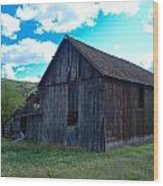 An Old Barn In The Sage Wood Print