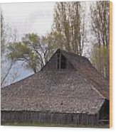 An Old Barn Near Klamath Falls Wood Print
