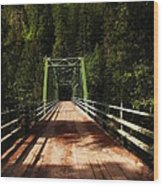 An Old Bridge Crossing The Seleway River  Wood Print