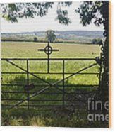 An Old Cemetery Gate Wood Print