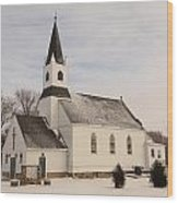 An Old Church In Palermo North Dakota Wood Print