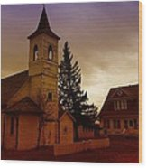 An Old Church In Williston North Dakota  Wood Print by Jeff Swan