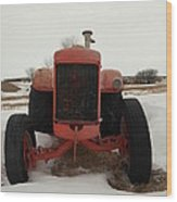An Old Dase Tractor Wood Print