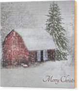 An Old Fashioned Merry Christmas Wood Print