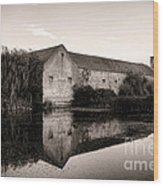An Old Fortified Farm Wood Print by Olivier Le Queinec