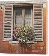 An Old French Window Wood Print