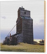 An Old Grain Elevator Wood Print
