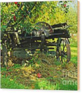 An Old Harvest Wagon Wood Print