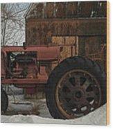 An Old John Deer Wood Print by Jeff Swan