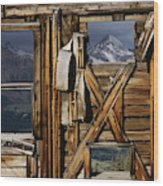 An Old Miners Shack With A View Wood Print