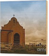 An Old Mission In Northeastern Montana Wood Print