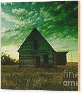 An Old North Dakota Farm House Wood Print