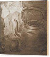 An Old Postcard Wood Print