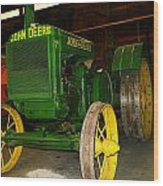 An Old Restored John Deere Wood Print