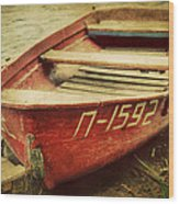 An Old Row Boat Wood Print
