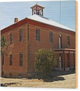 An Old School In White Oaks New Mexico Wood Print