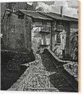 An Old Spanish Town Puente De Montanana Wood Print