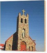 An Old Stone Church Wood Print