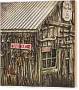 An Old Tool Shed Wood Print
