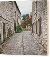 An Old Village Street Wood Print by Olivier Le Queinec