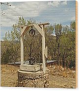 An Old Well In Lincoln City New Mexico Wood Print