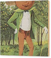 An Orange Man Wood Print