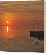 An Orange Sunrise Wood Print