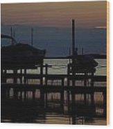 An Outer Anks Of North Carolina Sunset Wood Print