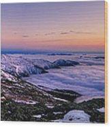 An Undercast Sunset Panorama Wood Print