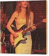 Guitarist Ana Popovic Wood Print