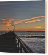 Anacapa Island Pier Wood Print