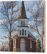 Anaconda Christian Church Wood Print