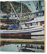Anacortes Fishing Fleet Washington State Wood Print