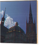 Anaglyph Church Wood Print