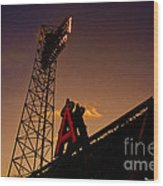 Anaheim Angels Sunset  Wood Print