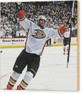 Anaheim Ducks V Winnipeg Jets - Game Wood Print