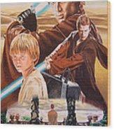 Anakin Skywaler Tatooine Wood Print
