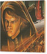 Anakin Turns To The Dark Side Wood Print