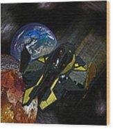 10115 Anakin's Starfighter Wood Print